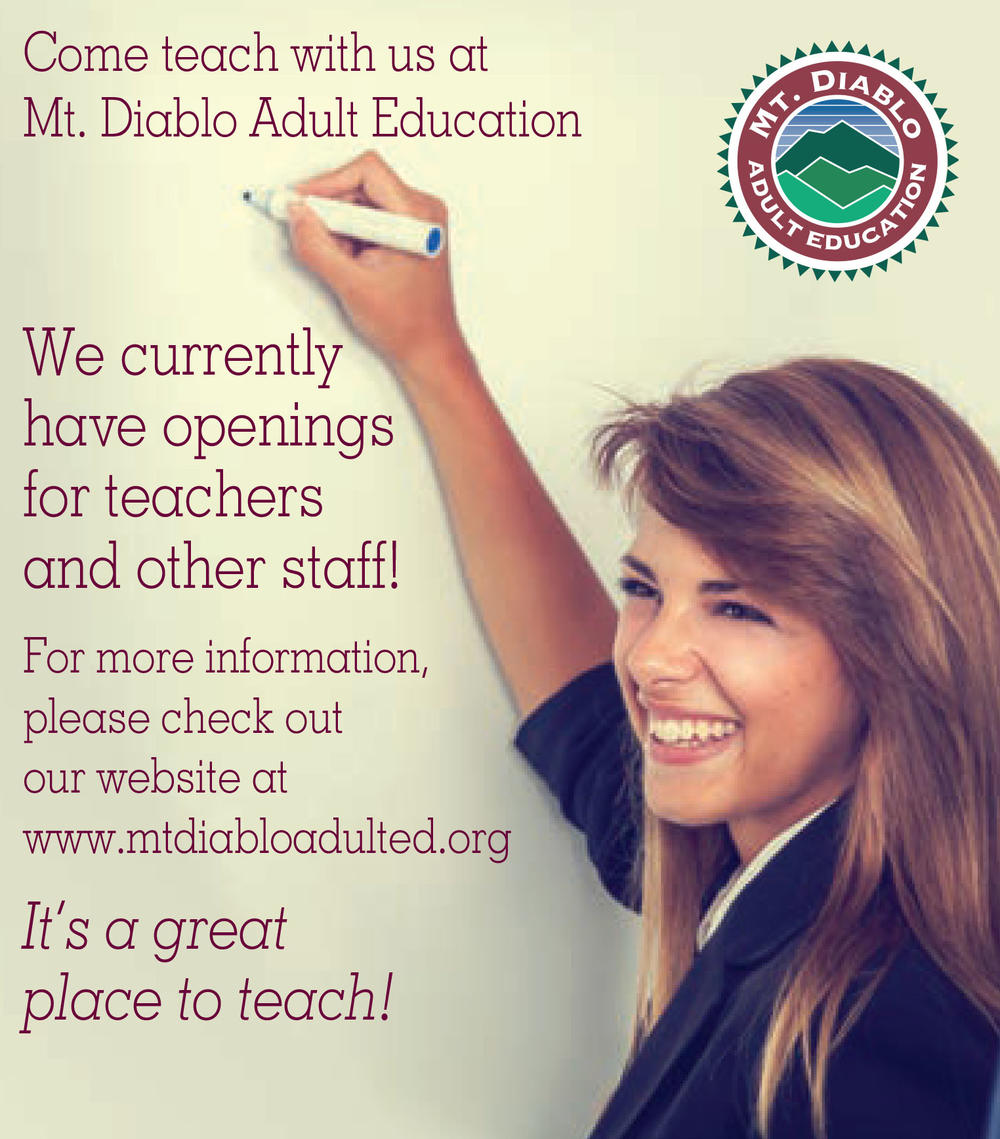 We have job openings for teachers and support staff